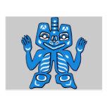 Blanket design of the Haida Indians Postcard