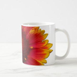 blanket flower basic white mug