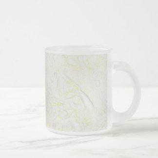 Blanket Flower Frosted Glass Mug