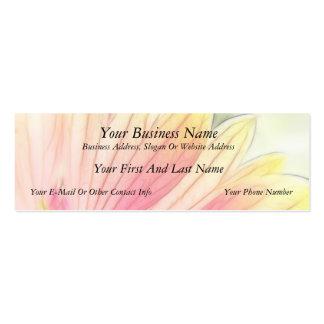 Blanket Flower Petals Close Up Pack Of Skinny Business Cards