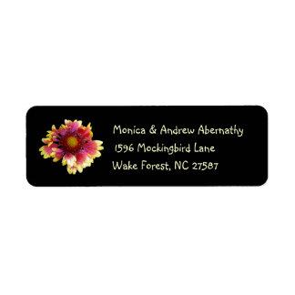 Blanket Flower Return Address Labels