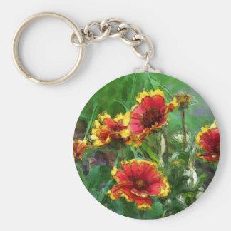 Blanket Flowers Watercolor Keychain