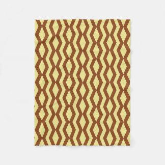 Blanket: Khaki and Saddle Brown Fleece Blanket