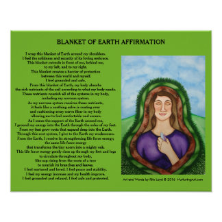 Blanket of Earth by Rita Loyd Poster