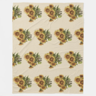 Blanket with sunflowers