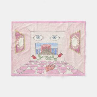 "Blanket with ""Valentine"" by Amber Larsen"