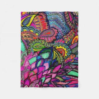 Blanket Zen Tangle Close-up Art Michele Zurine