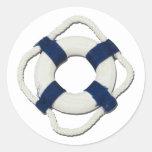 BlankLifePreserver081212.png Round Sticker