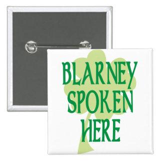 Blarney Spoken Here 15 Cm Square Badge