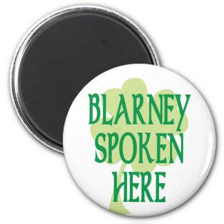 Blarney Spoken Here 6 Cm Round Magnet