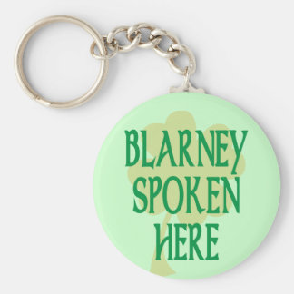 Blarney Spoken Here Basic Round Button Key Ring