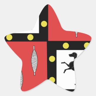 Blason de la ville d Arreau (Hautes-Pyrenees) Star Sticker