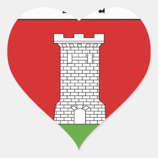 Blason de la ville de Berberust-Lias Heart Sticker