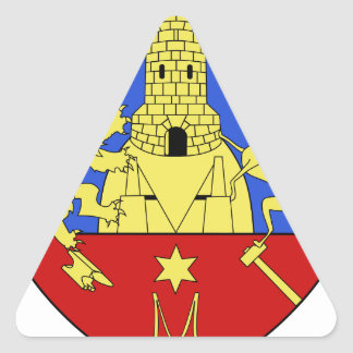 Blason fr ville Montataire (60) Triangle Stickers