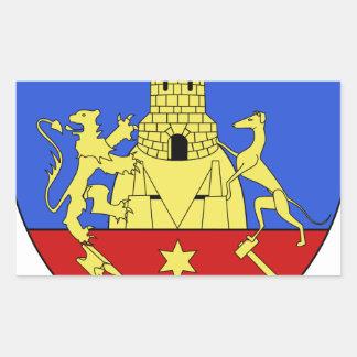 Blason fr ville Montataire (60) Rectangular Stickers