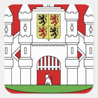 Blason ville be Mons (Hainaut) Stickers