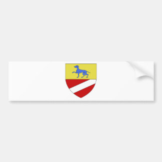 Blason ville Cagnes-sur-Mer (Alp-Mar) Bumper Sticker