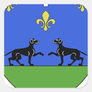 Blason ville fr Barbazan-Dessus (65) Square Sticker