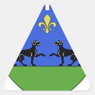 Blason ville fr Barbazan-Dessus (65) Triangle Stickers