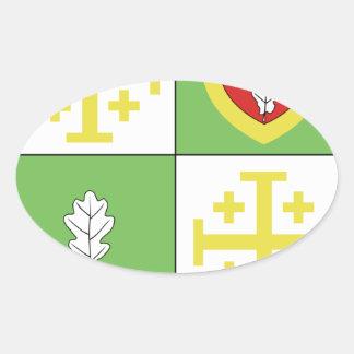 Blason ville fr Chalo Saint Mars (Ile de France) Oval Sticker
