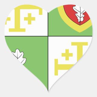 Blason ville fr Chalo Saint Mars (Ile de France) Heart Stickers