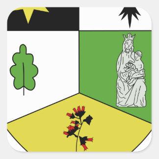 Blason ville fr Notre-Dame-des-Landes Square Sticker