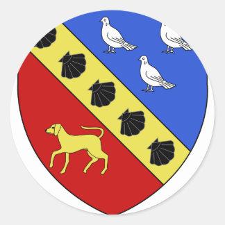 Blason ville fr Saint-Germain-de-la-Grange Round Sticker