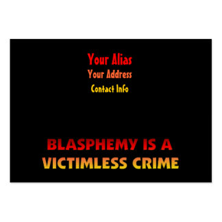 Blasphemy Victimless Crime Business Card Template