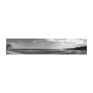 Blast Beach Panorama 2 Stretched Canvas Print