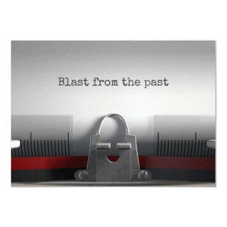 Blast From The Past Typewriter 13 Cm X 18 Cm Invitation Card