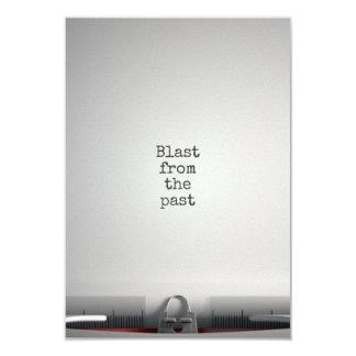 Blast From The Past Typewriter 9 Cm X 13 Cm Invitation Card