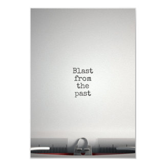 Blast From The Past Typewriter Card