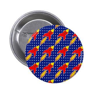 blast off 6 cm round badge