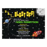 Blast Off Into Space Birthday Invitation