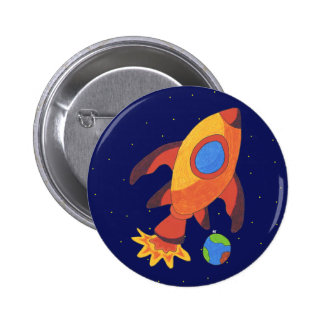 Blast Off Rocket Ship Button