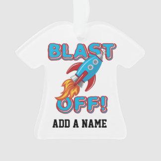 Blast Off Rocket Ship Ornament