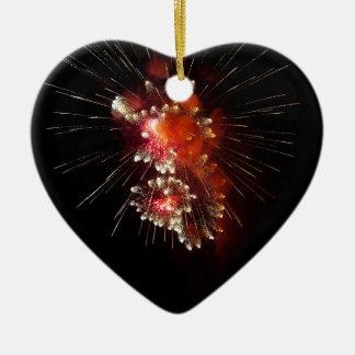 Blasting Ceramic Heart Decoration
