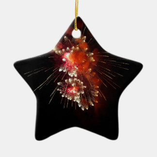 Blasting Ceramic Star Decoration