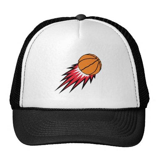 blasting flames basketball hat