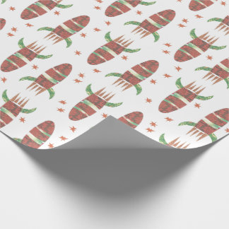 Blasting Rocket Wrapping Paper