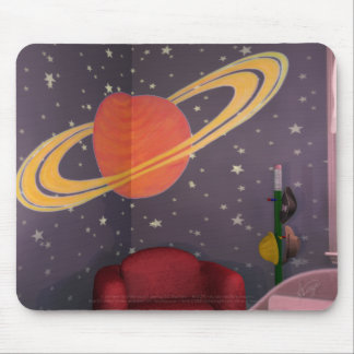 BlastOff Saturn Mural Mouse Pad