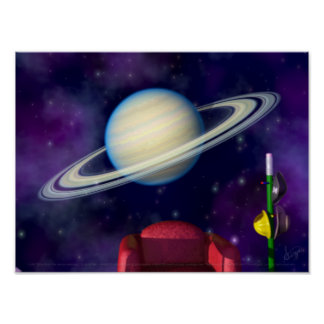 BlastOff! Saturn Print