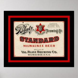 Blatz  Beer 16 x 20 Vintage Ad Poster