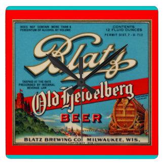 Blatz Old Heidelberg Beer Wall Clock
