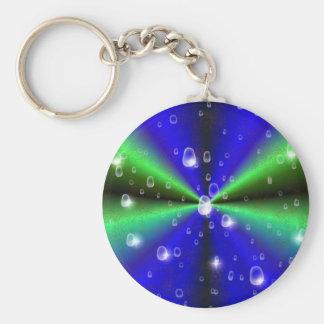 Blau grün Regenbogen in Elephant Skin Leder optic Schlüsselband