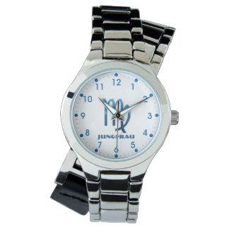 Blau Jungfrau Virgo Zodiac Watch