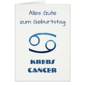 Blau Krebs Cancer Zodiac Geburtstag Card