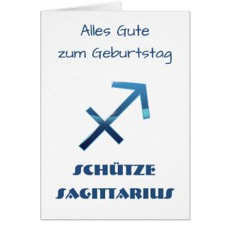 Blau Schütze Sagittarius Zodiac Geburtstag Card