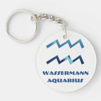 Blau Wassermann Aquarius Zodiac Key Ring