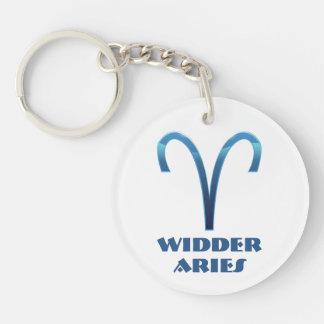 Blau Widder Aries Zodiac Key Ring